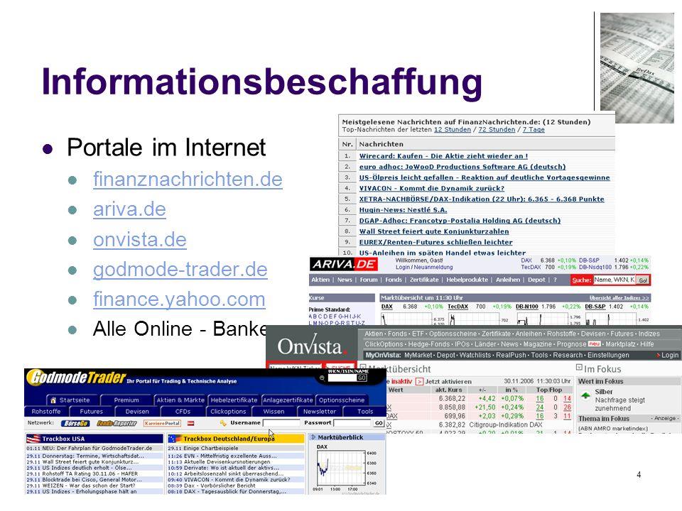 15 Newsletter www.presseportal.de Ein unabhängiges NEWS-Portal www.presseportal.de Verschiedene News-Portale: Spiegel Stern SZ