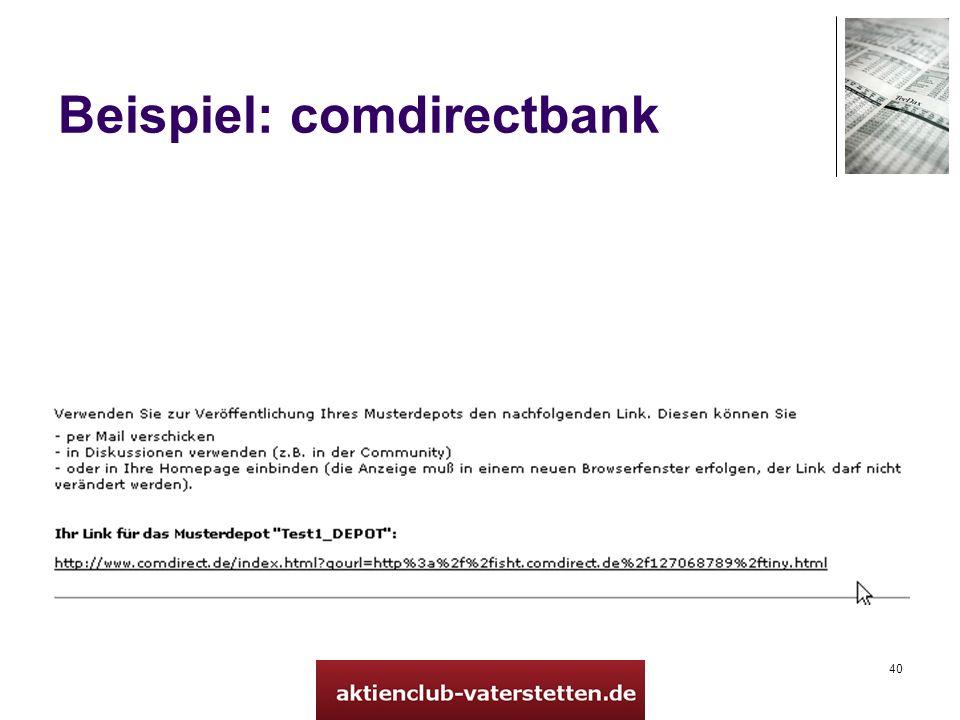 40 Beispiel: comdirectbank