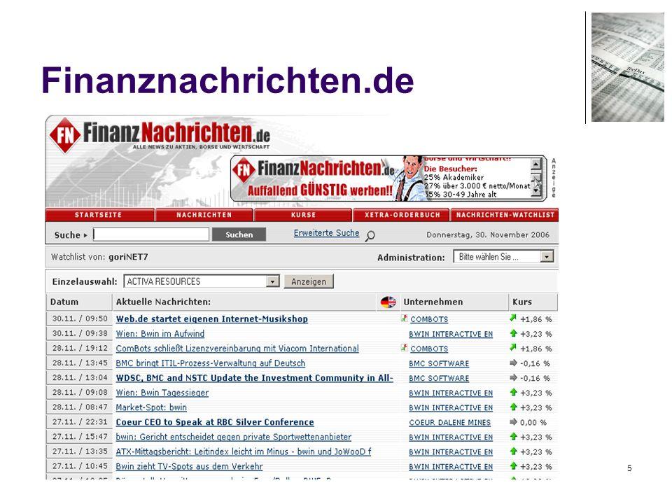 26 rss-Beispiele wallstreet-online.de/rss