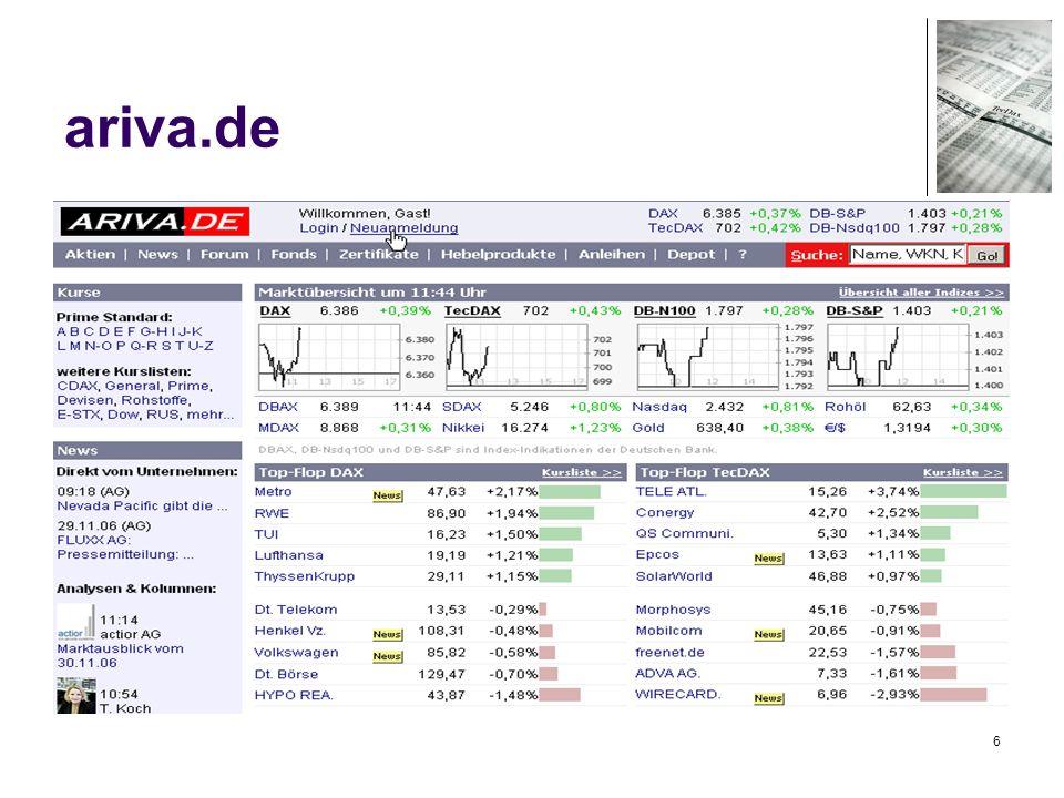 77 Handel – Wertpapierkauf Demokonto