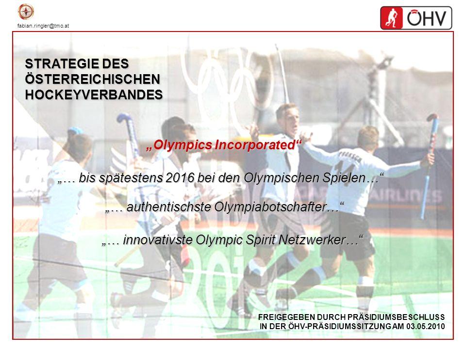 fabian.ringler@tmo.at 12 Olympia-Navigator Ergebnisse Webumfrage http://www.hockey.at/navigator/ Die Webumfrage war Teil des ÖHV-Strategieprojektes Olympia-Navigator, bei dem die Weichen für die Zukunft des österreichischen Hockeys gestellt werden sollten.