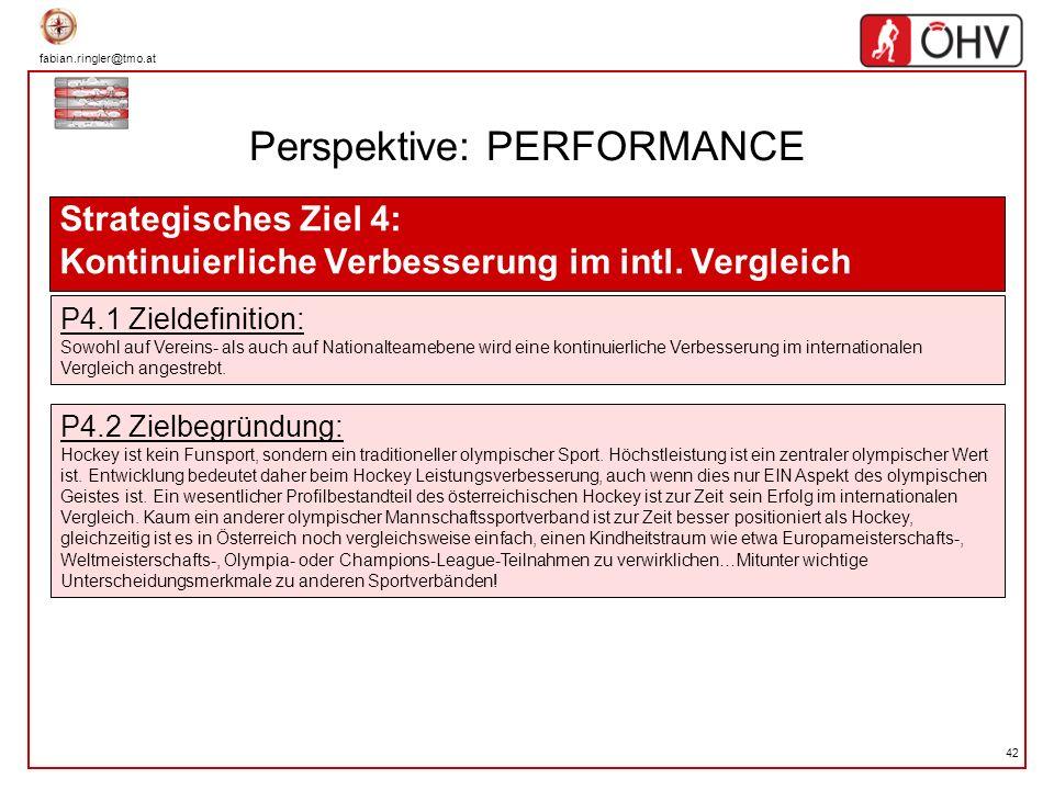 fabian.ringler@tmo.at 42 Perspektive: PERFORMANCE Strategisches Ziel 4: Kontinuierliche Verbesserung im intl. Vergleich P4.1 Zieldefinition: Sowohl au