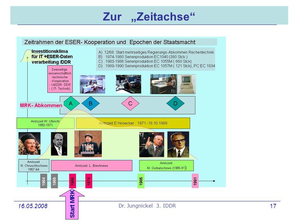16.05.2008 Dr. Jungnickel 3. IDDR 17 Zur Zeitachse Start MRK
