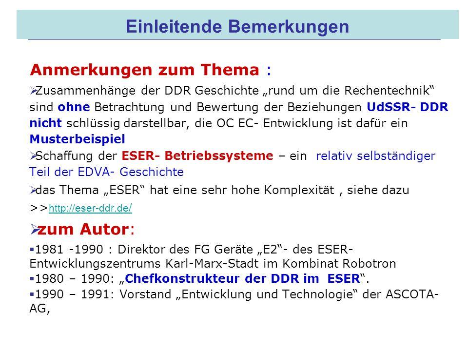 16.05.2008 Dr. Jungnickel 3. IDDR 2 Einleitende Bemerkungen Anmerkungen zum Thema : Zusammenhänge der DDR Geschichte rund um die Rechentechnik sind oh