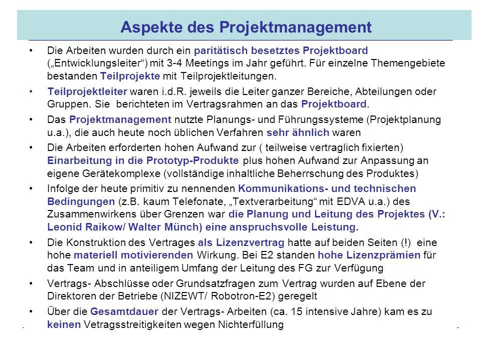 16.05.2008 Dr. Jungnickel 3. IDDR 23 Aspekte des Projektmanagement Die Arbeiten wurden durch ein paritätisch besetztes Projektboard (Entwicklungsleite