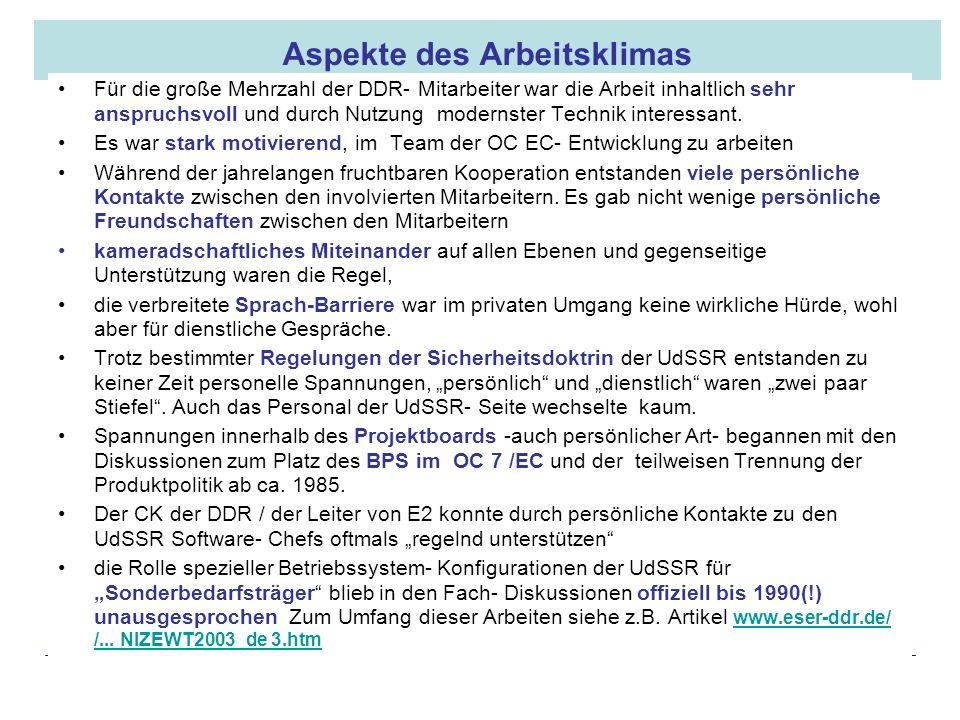 16.05.2008 Dr. Jungnickel 3. IDDR 24 Aspekte des Arbeitsklimas Für die große Mehrzahl der DDR- Mitarbeiter war die Arbeit inhaltlich sehr anspruchsvol