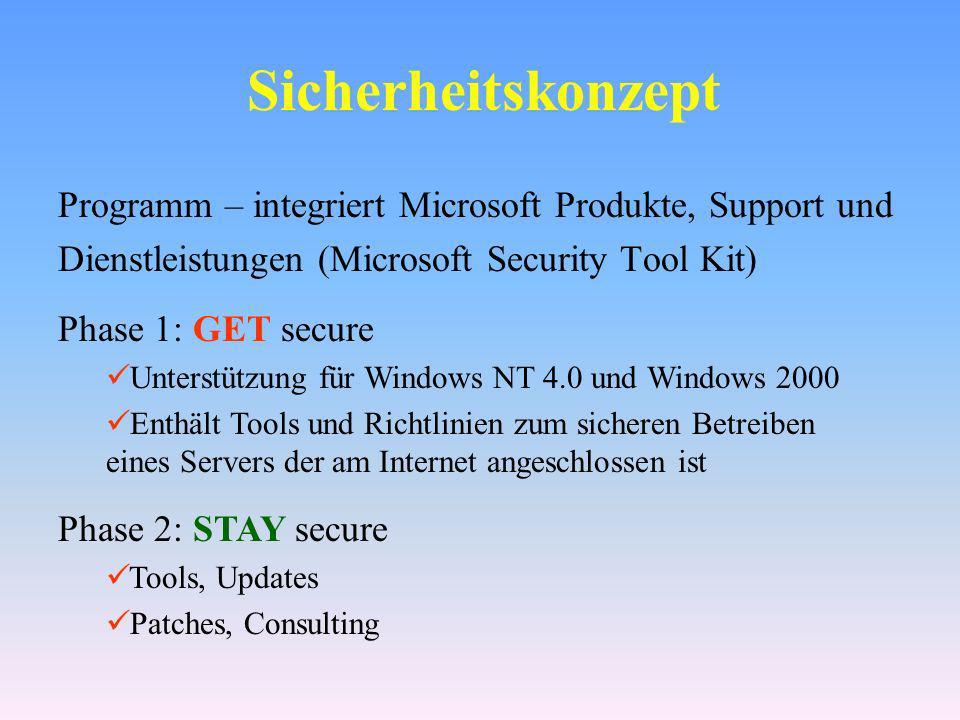 Microsoft Security Tool Kit http://www.microsoft.com/technet/ treeview/default.asp?url=/ technet/security/tools/Default.asp