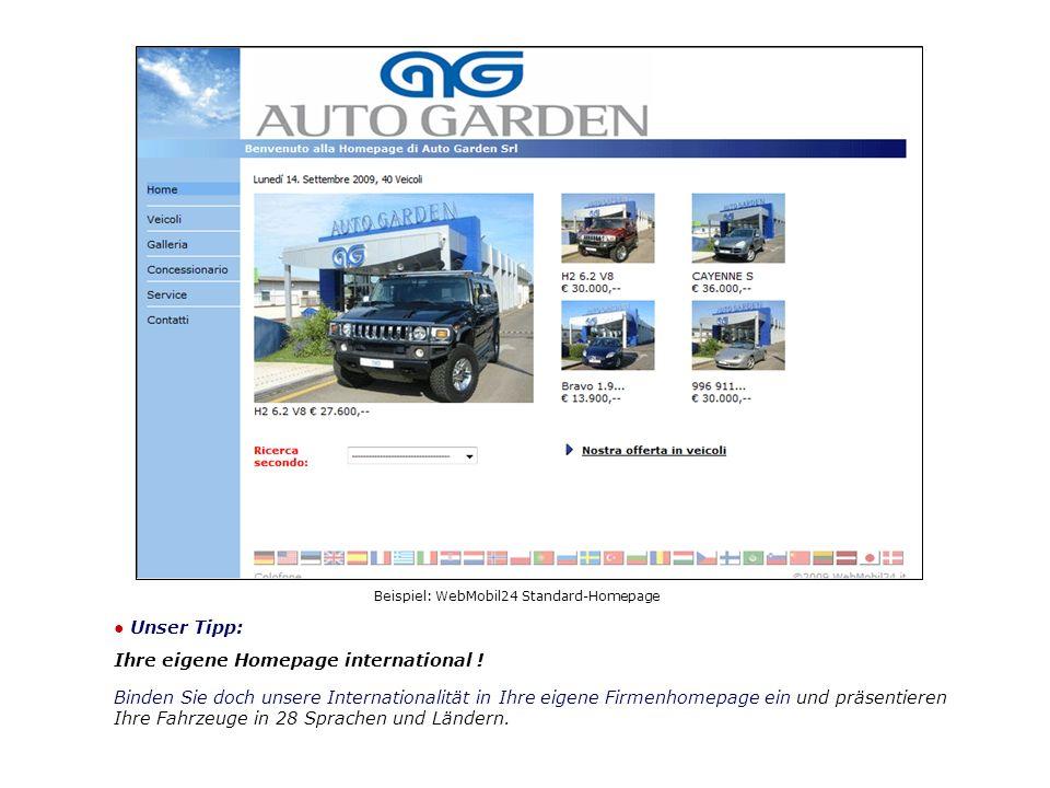 Unser Tipp: Ihre eigene Homepage international .