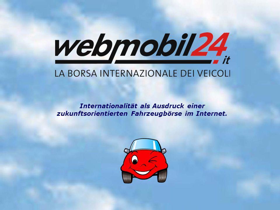 Internationalität als Ausdruck einer zukunftsorientierten Fahrzeugbörse im Internet.