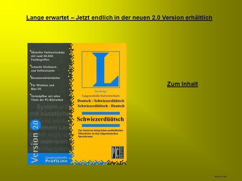 Lange erwartet – Jetzt endlich in der neuen 2.0 Version erhältlich Zum Inhalt dioxin-city.de