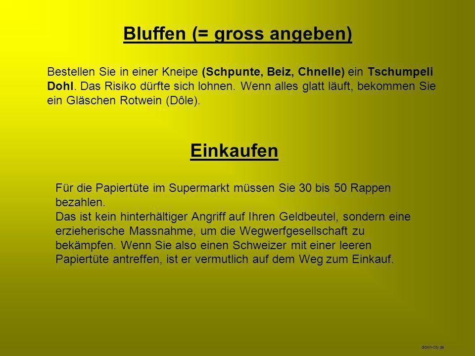 Die putzigste Eigenart des Schweizers beim Telefonieren: Wie kurz auch immer Ihr Schweizer Telefonpartner das Gespräch unterbrechen muss, er wird es mit diesen Worten wiederaufnehmen: Sind Sie noch da? Antworten Sie mit einem schlichten Ja , und wundern Sie sich nicht.