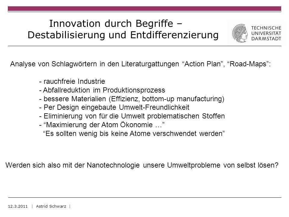 12.3.2011 | Astrid Schwarz | Werden sich also mit der Nanotechnologie unsere Umweltprobleme von selbst lösen.