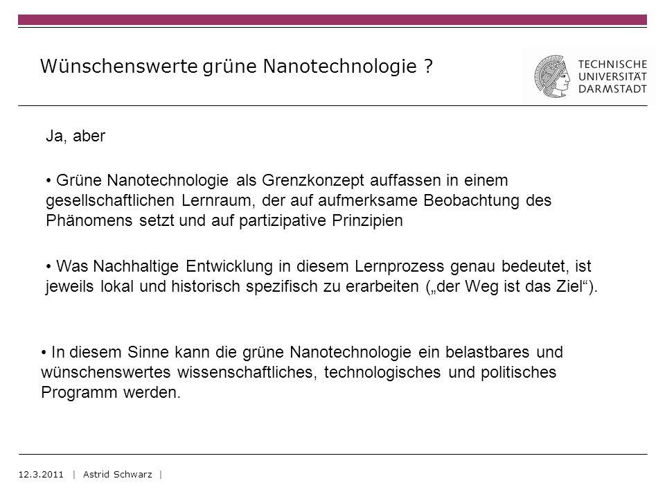 Wünschenswerte grüne Nanotechnologie .