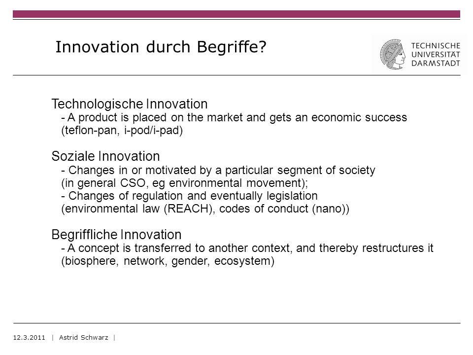 Innovation durch Begriffe.