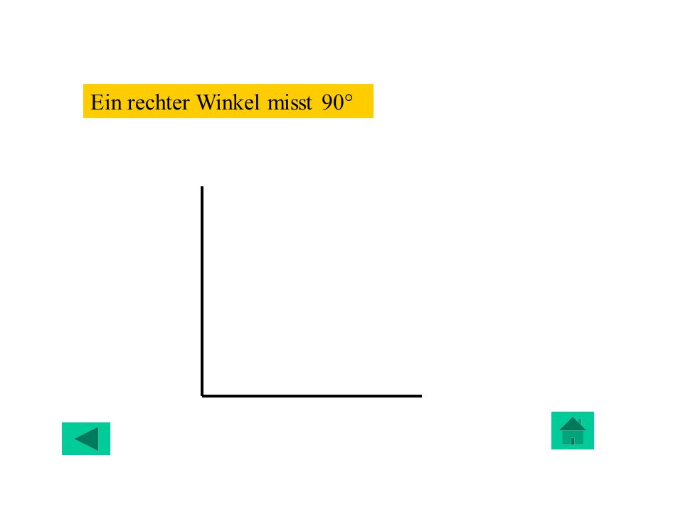 Ein rechter Winkel misst 90°
