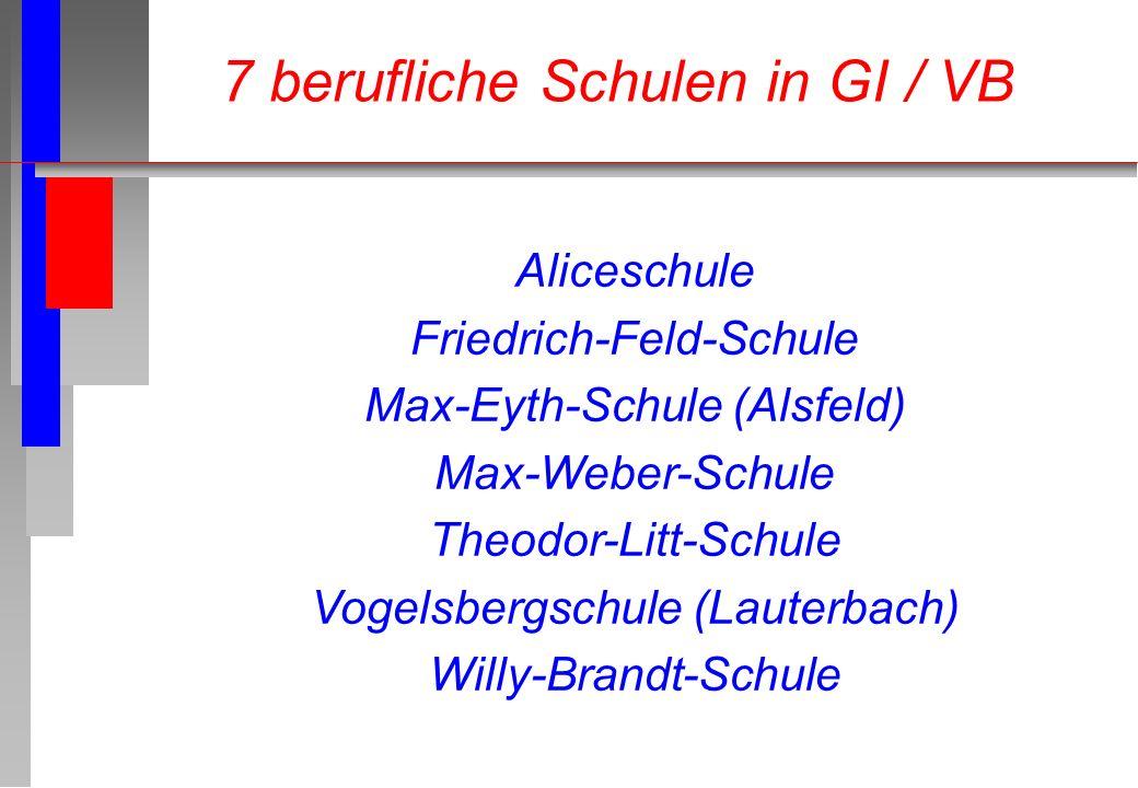 Aliceschule Friedrich-Feld-Schule Max-Eyth-Schule (Alsfeld) Max-Weber-Schule Theodor-Litt-Schule Vogelsbergschule (Lauterbach) Willy-Brandt-Schule 7 b