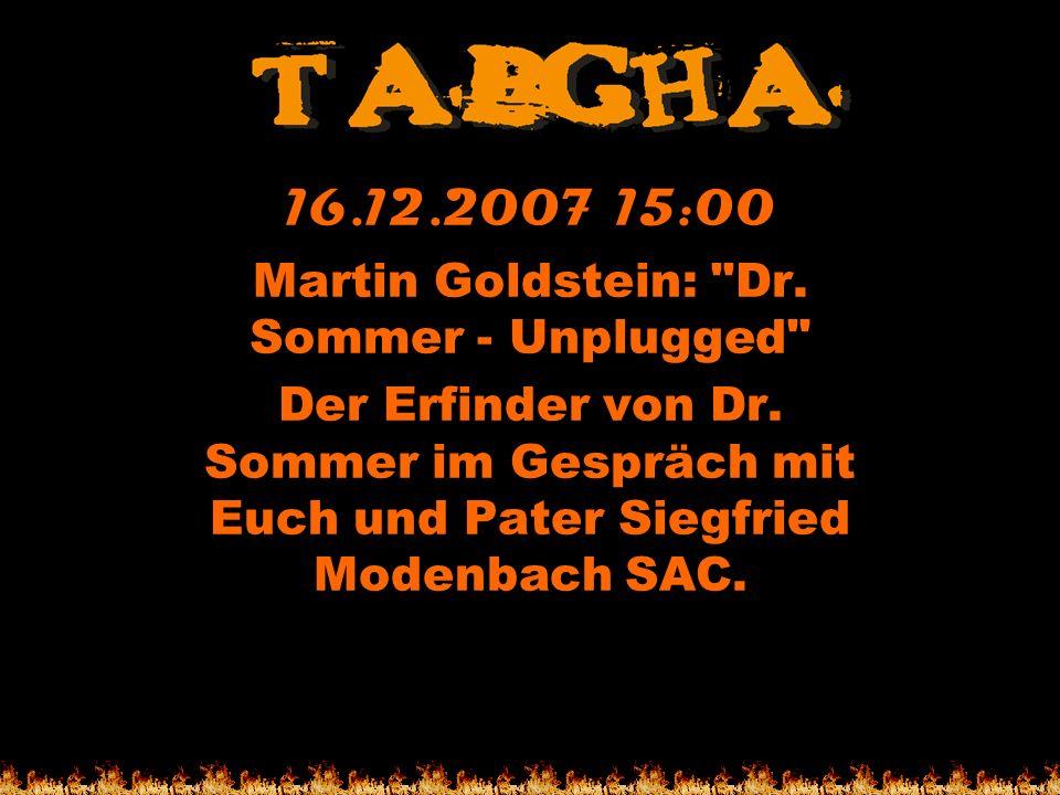 16.12.2007 15:00 Martin Goldstein: