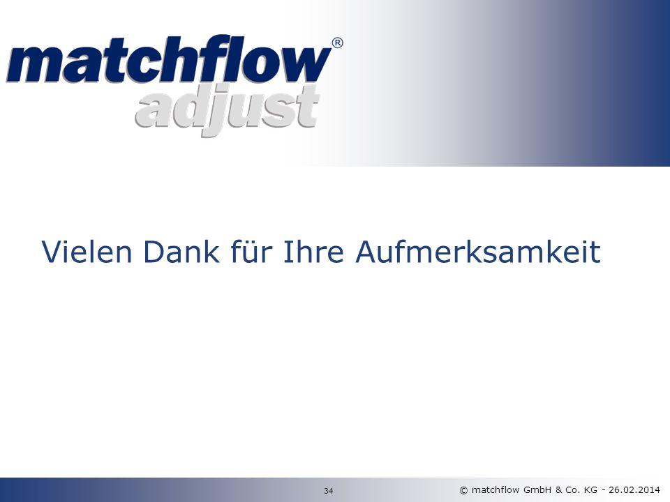 © matchflow GmbH & Co. KG - 26.02.2014 34 Vielen Dank für Ihre Aufmerksamkeit