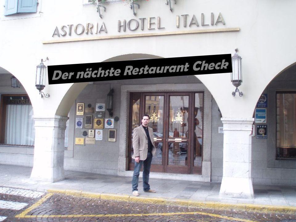 Der nächste Restaurant Check