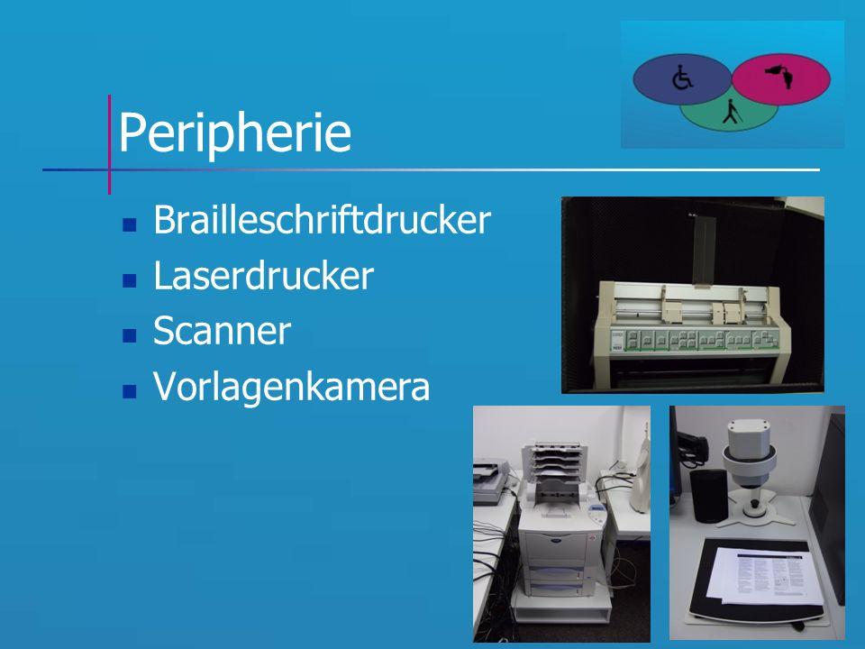 Peripherie Brailleschriftdrucker Laserdrucker Scanner Vorlagenkamera