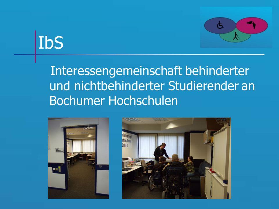 IbS Interessengemeinschaft behinderter und nichtbehinderter Studierender an Bochumer Hochschulen