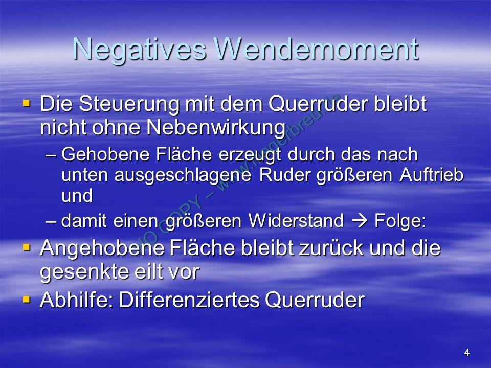 NO COPY – www.fliegerbreu.de 35 Frage zur: Polare Ordne zu: - Bestes Gleiten - Rückenflug - Schnellflug - Auftriebslos - Strömungsabriss