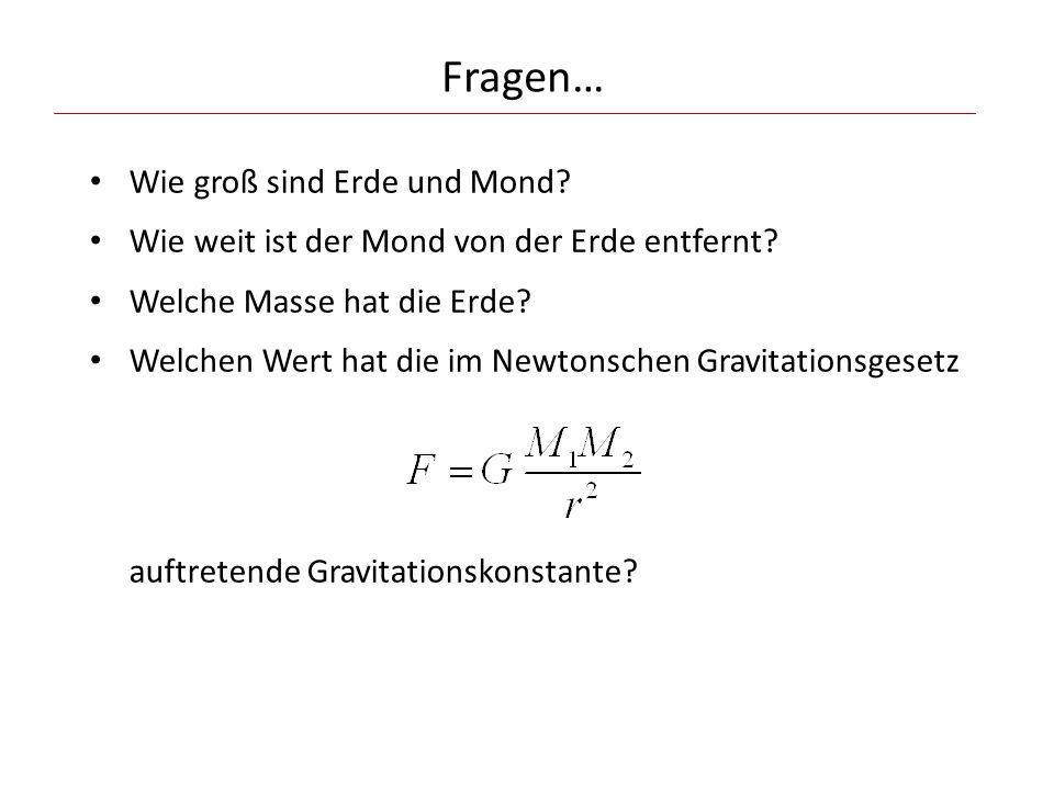 Geometrische Auswertung (etwa anhand eines Papierausdrucks): Satz von Pythagoras: und daraus: Erde : Mond abmessen.