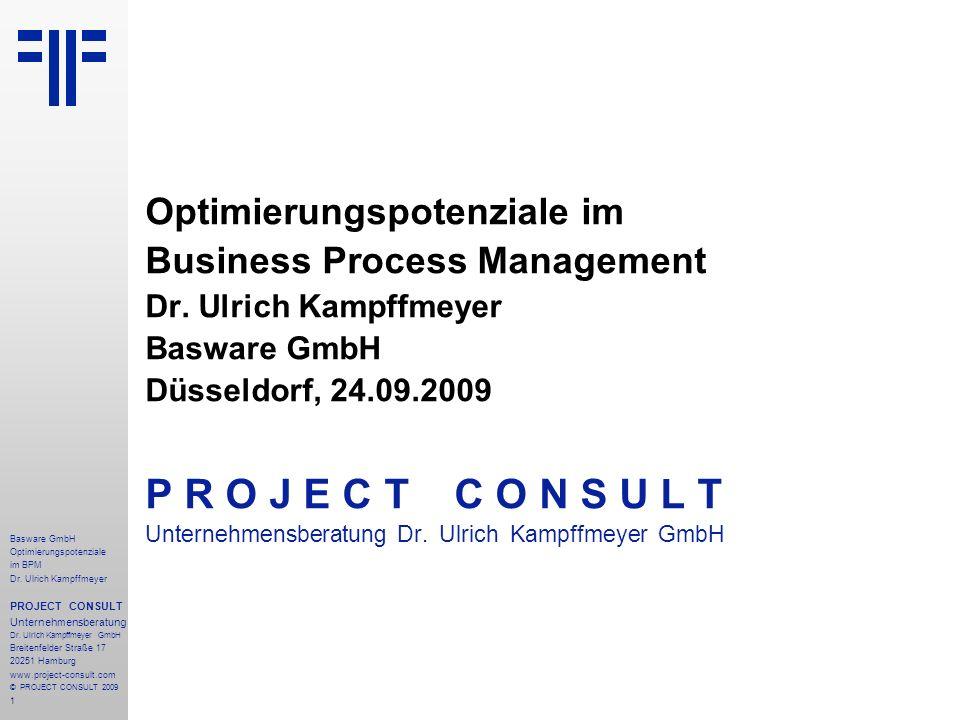 22 Basware GmbH Optimierungspotenziale im BPM Dr.