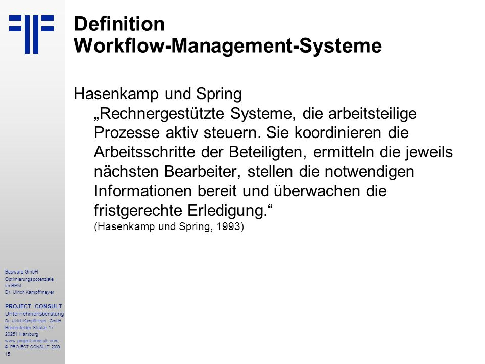 15 Basware GmbH Optimierungspotenziale im BPM Dr.