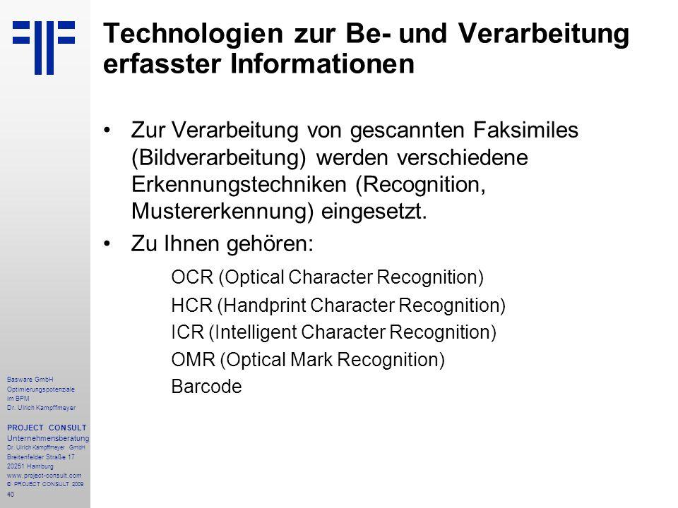 40 Basware GmbH Optimierungspotenziale im BPM Dr.