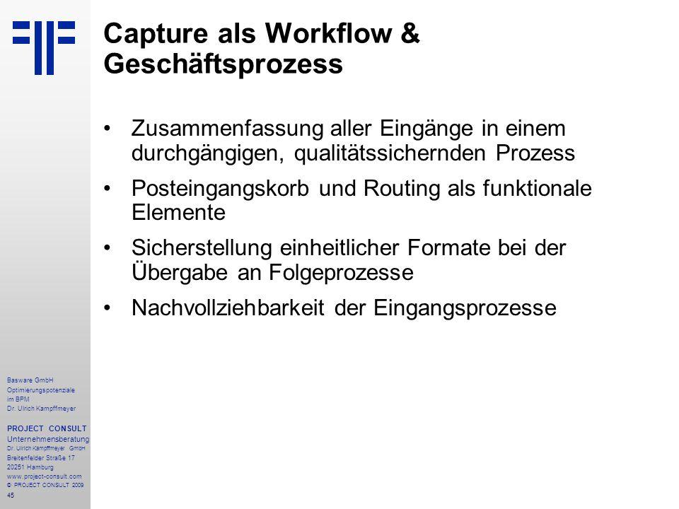 45 Basware GmbH Optimierungspotenziale im BPM Dr.