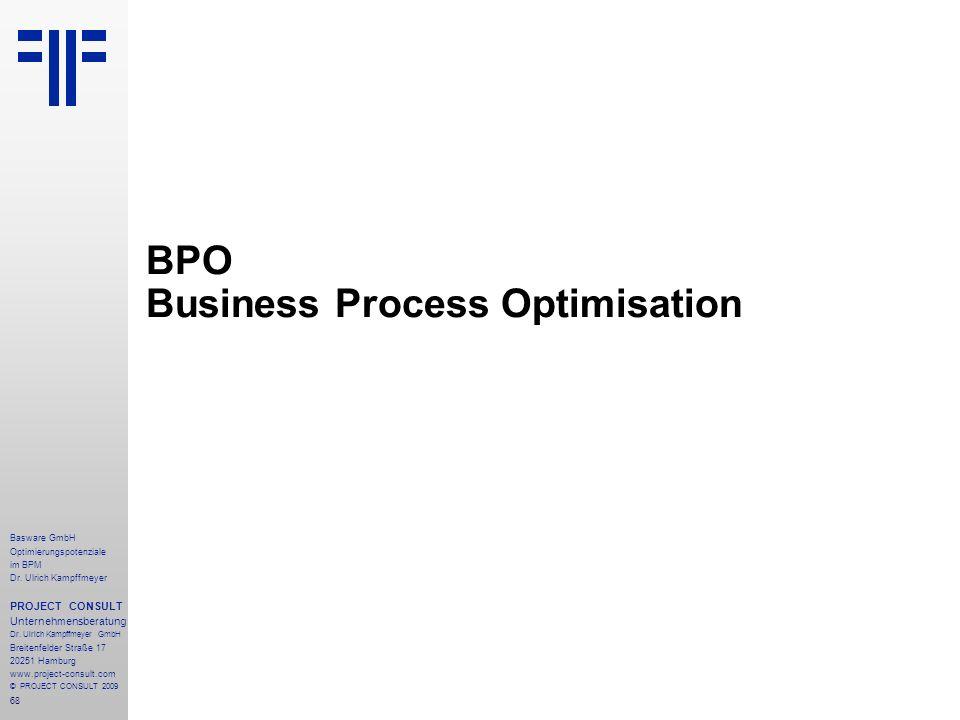 68 Basware GmbH Optimierungspotenziale im BPM Dr.