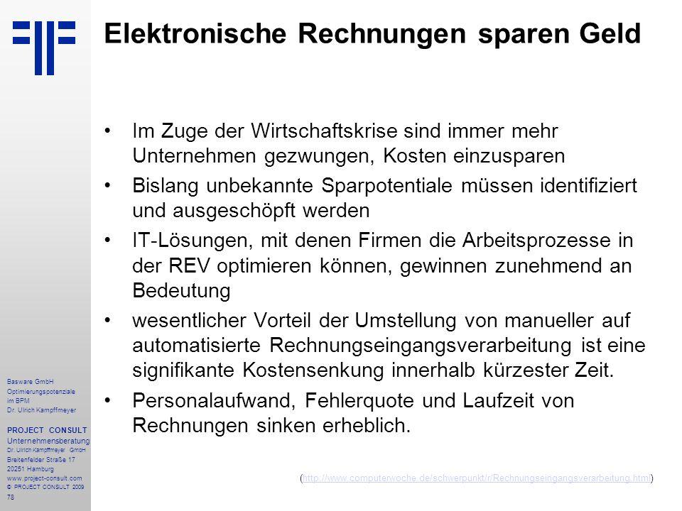 78 Basware GmbH Optimierungspotenziale im BPM Dr.