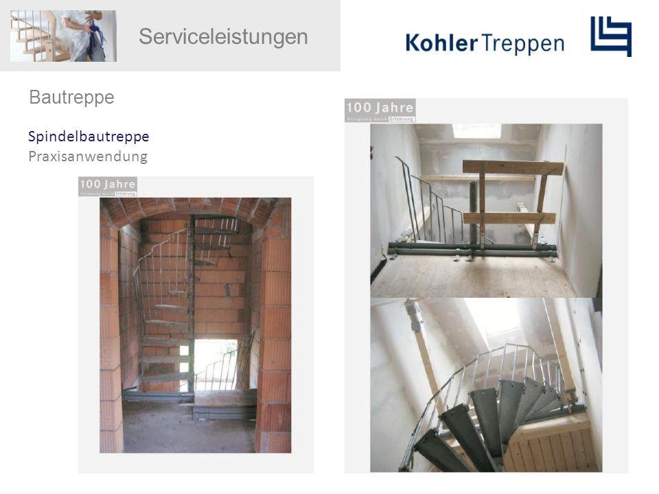 Serviceleistungen Bautreppe Spindelbautreppe Praxisanwendung
