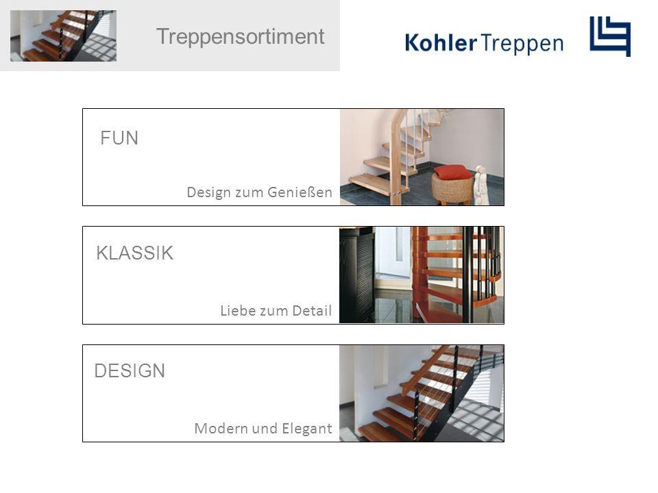 Treppensortiment FUN Design zum Genießen KLASSIK Liebe zum Detail DESIGN Modern und Elegant