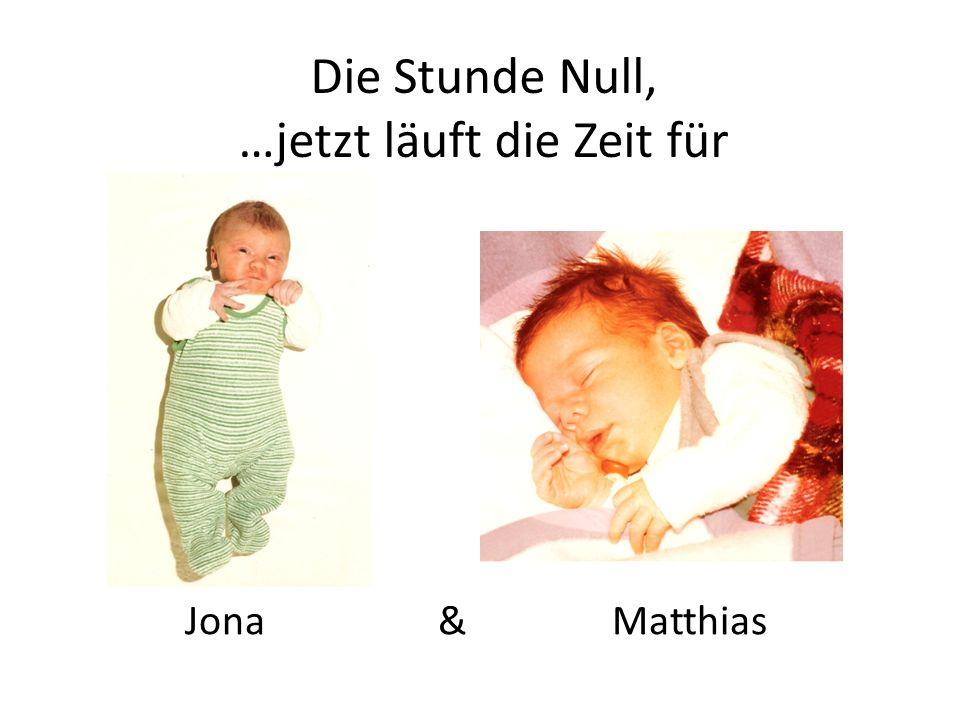 Die Stunde Null, …jetzt läuft die Zeit für Jona & Matthias