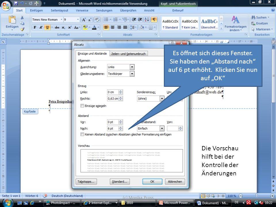 (c) Monika Pross Wählen Sie beispielsweise Laufwerk F: