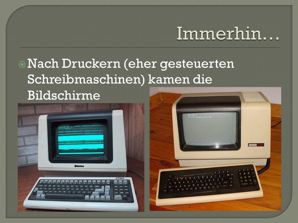 Programme zeigten nur Text an Auch die Steuerung des Betriebssystems geschah ausschließlich per Tastatur
