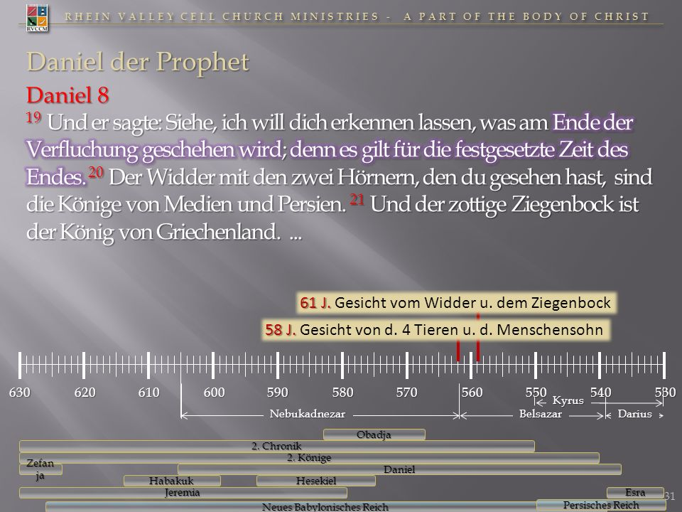 RHEIN VALLEY CELL CHURCH MINISTRIES - A PART OF THE BODY OF CHRIST Daniel der Prophet 32