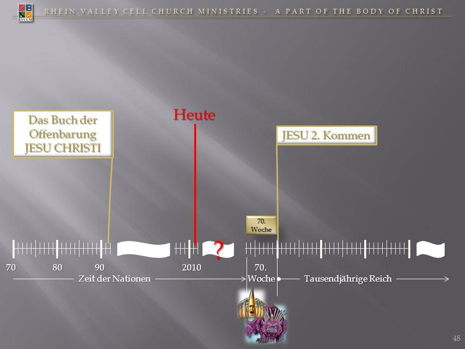 RHEIN VALLEY CELL CHURCH MINISTRIES - A PART OF THE BODY OF CHRIST 70201070.Woche Tausendjährige Reich Zeit der Nationen 70. Woche JESU 2. Kommen 8090