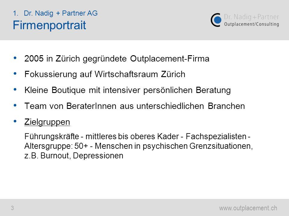 www.outplacement.ch 24 Der durchschnittliche Schweizer war: 1920:30 Jahre alt 2009:42 Jahre alt 2050:49 Jahre alt Der durchschnittliche Schweizer Arbeitnehmende war im Jahr 2009 48 Jahre alt.