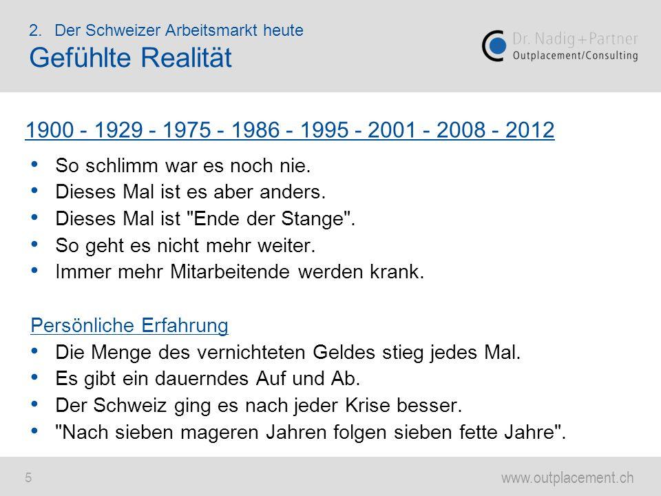 www.outplacement.ch 6 2.Der Schweizer Arbeitsmarkt heute Düstere Konjunkturaussichten Handelszeitung - 24.