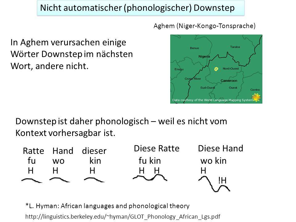 Automatischer und nicht-automatischer Downstep Automatischer Downstep Nicht-automatischer Downstep 1 Dagegen ist nicht-automatischer Downstep nicht au