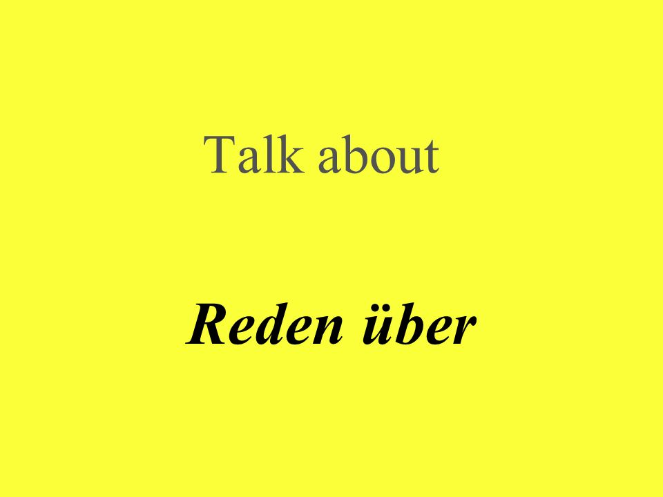 Talk about Reden über