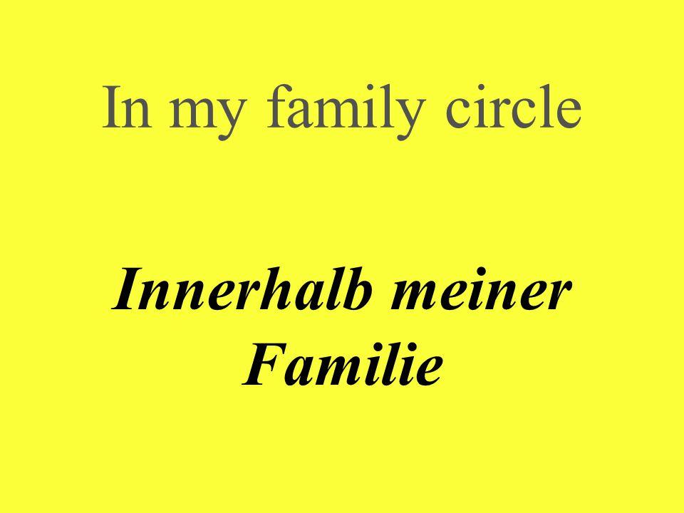 In my family circle Innerhalb meiner Familie