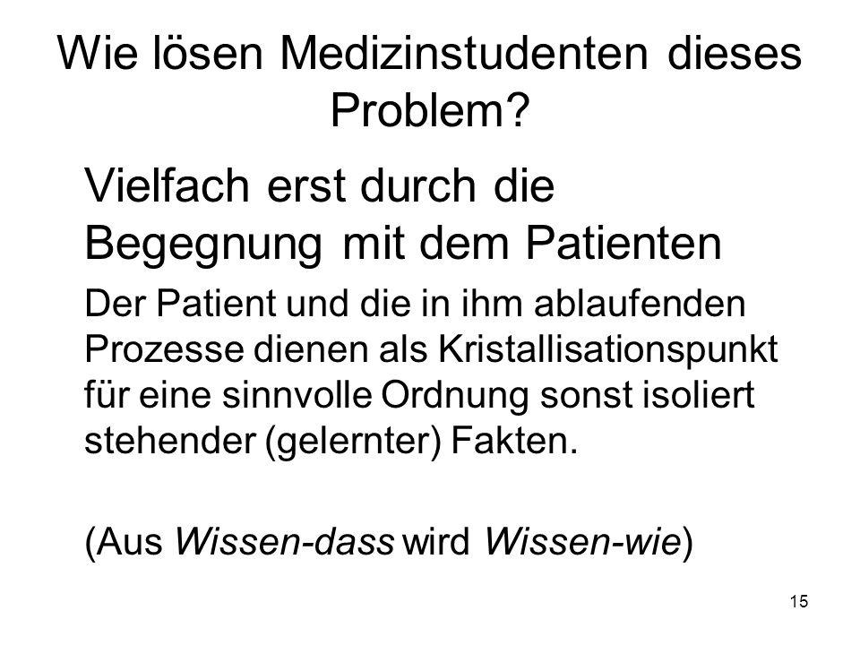 15 Wie lösen Medizinstudenten dieses Problem.