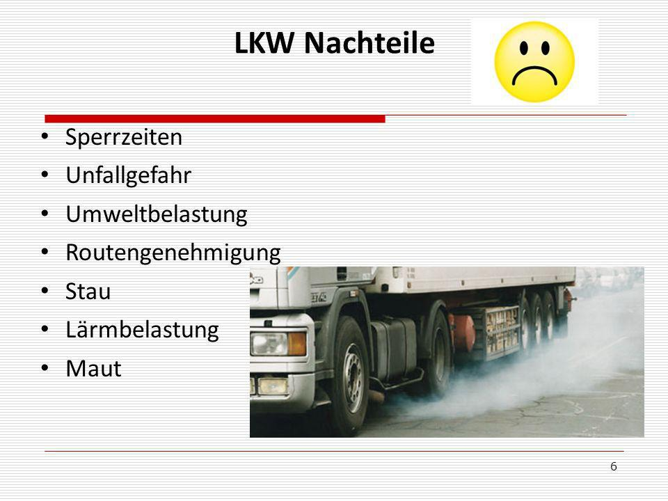 6 LKW Nachteile Sperrzeiten Unfallgefahr Umweltbelastung Routengenehmigung Stau Lärmbelastung Maut