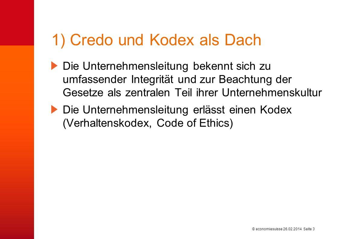 © economiesuisse Fünf Grundelemente wirksamer Compliance 26.02.2014 Seite 2
