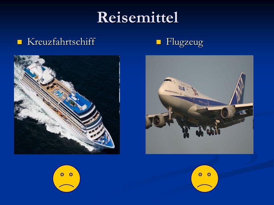 Reisemittel Kreuzfahrtschiff Kreuzfahrtschiff Flugzeug