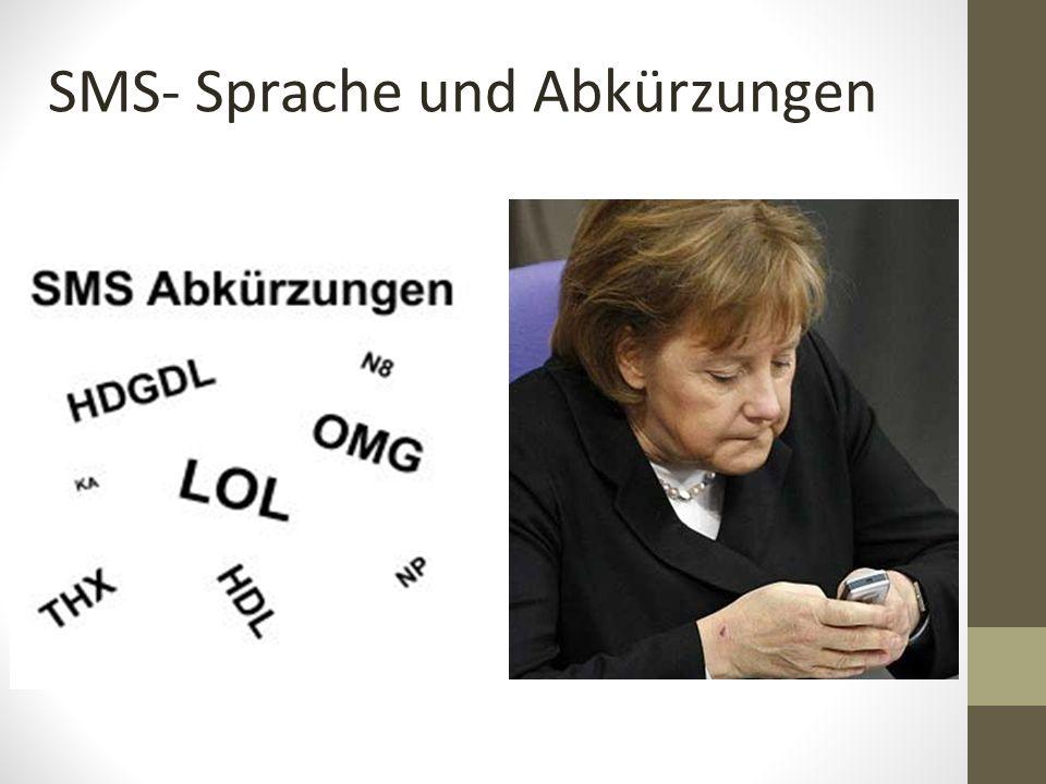 SMS- Sprache und Abkürzungen